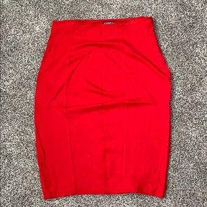 Express red pencil skirt